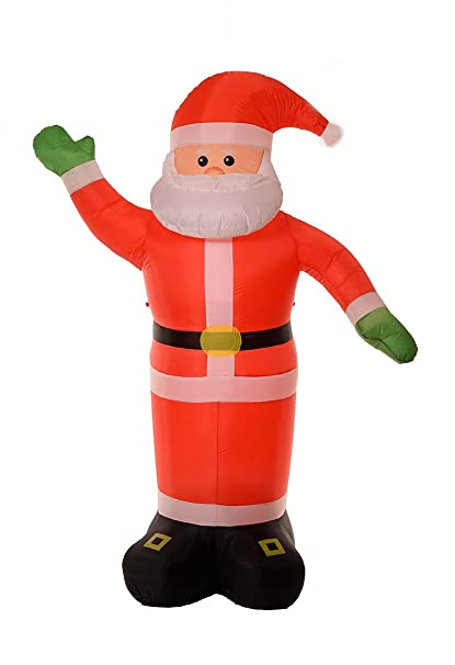 huge 8 foot self inflating illuminated santa claus holiday blow up decoration inflatable - Huge Inflatable Christmas Decorations