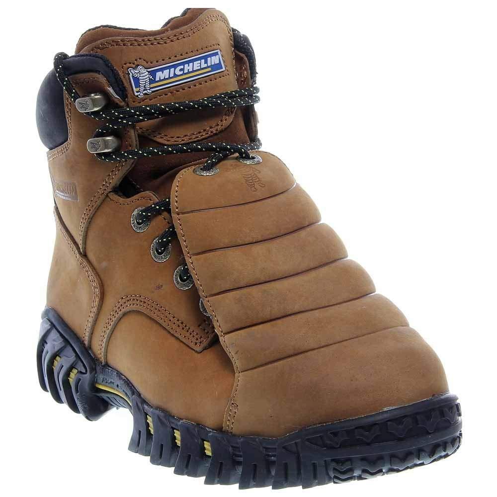 Michelin Men's Steel Toe Metatarsal Guard Boots,Brown,9.5 W by Michelin