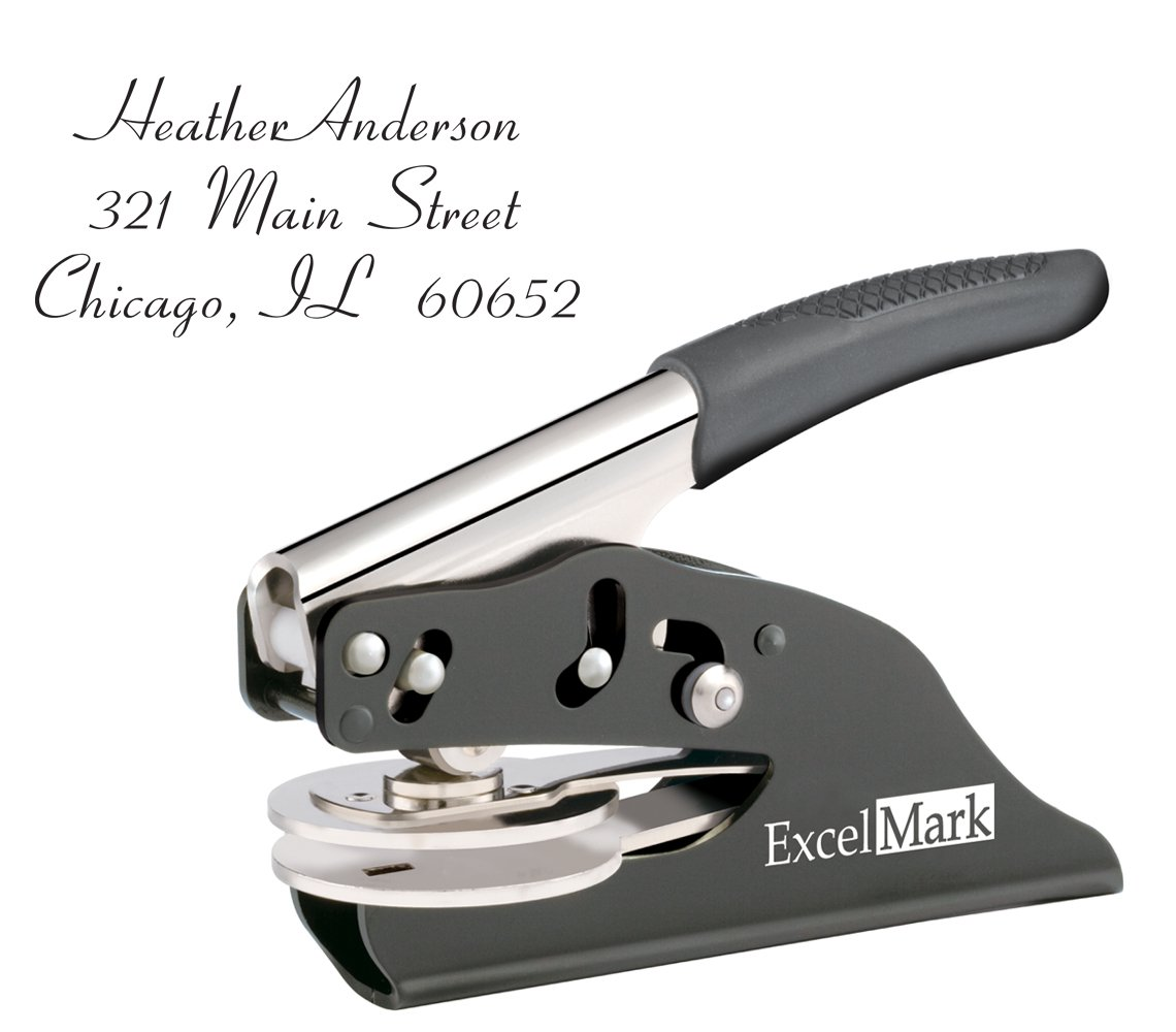 ExcelMark Personal Address Gift Embosser – Style 1