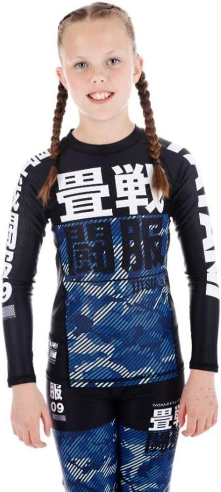 Tatami Kids Essential BJJ Rash Guard White Camo Long Sleeve MMA Compression Top