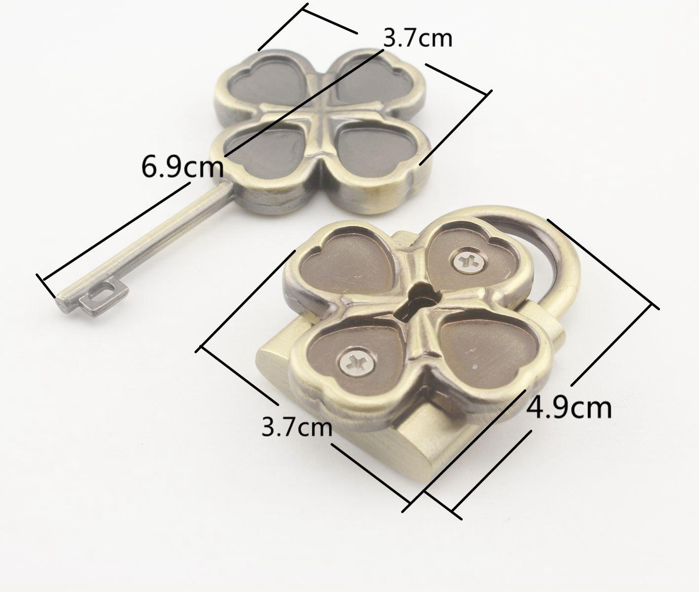 In lega di zinco lucchetto serratura serratura con chiave per borsetta borsa di stoccaggio contenitore di fare, nichel, anti bronzo e oro a scelta, 1set per lotto Cat shape Nickel 3DANCraftit