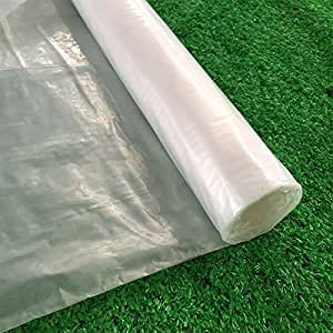 Clean Plastic Film Polyethylene Covering for Greenhouse and Grow Tunnel,6.3mil 20ftx36ft