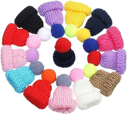 iSuperb Mini gorro de lana, accesorios de bricolaje, lana para ...