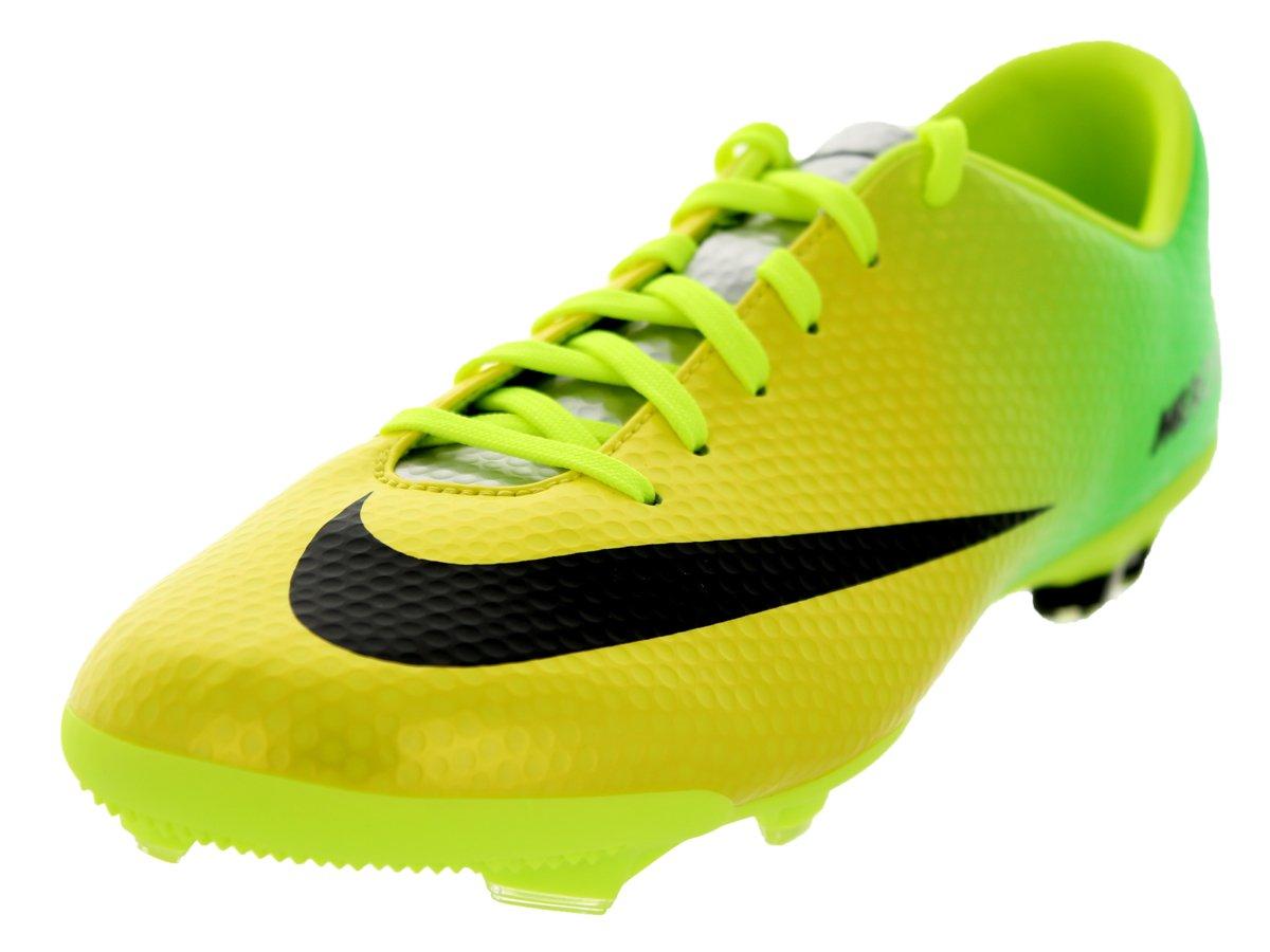 Nike Kids Jr Mercurial Vapor IX FG Vibrant Yellow/Black/Neo Lime Soccer Cleat 5.5 Kids US