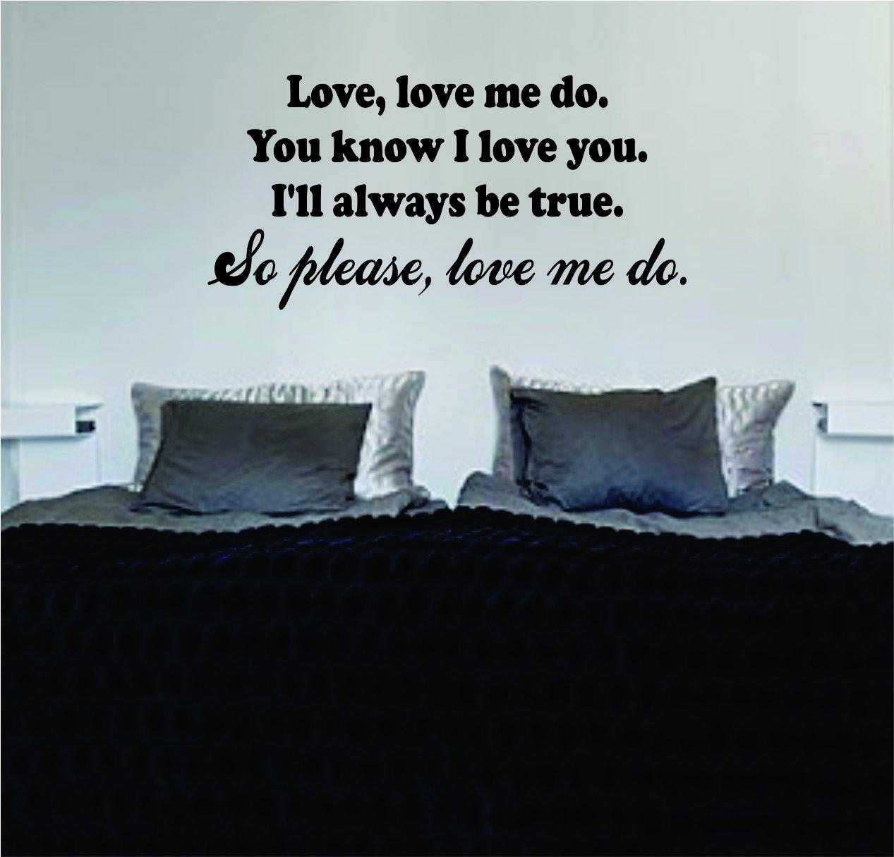 Amazon Love Me Do Beatles John Lennon Quote Lyrics Decal Wall