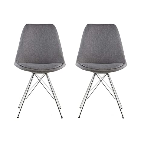 Amazoncom Waroom Home Dining Chairs Set Of 2 Mid Century