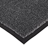 Notrax 130 Sabre Decalon Entrance Mat, for Entranceways and Light to Medium Traffic Areas, 3' Width x 4' Length x 5/16'' Thickness, Charcoal