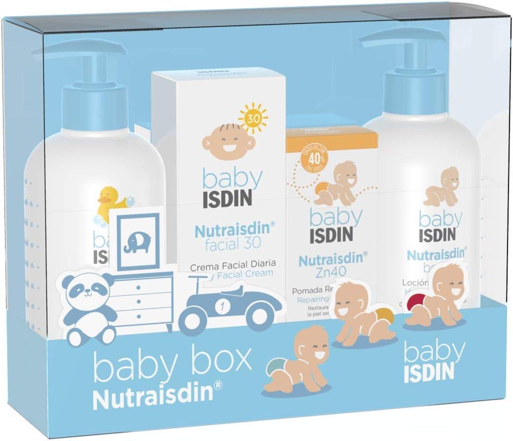 ISDIN NutraISDIN 690020489 Canastilla Mini Azul, Pack Body Lotion, Bath Gel, Zn40, Facial SPF15