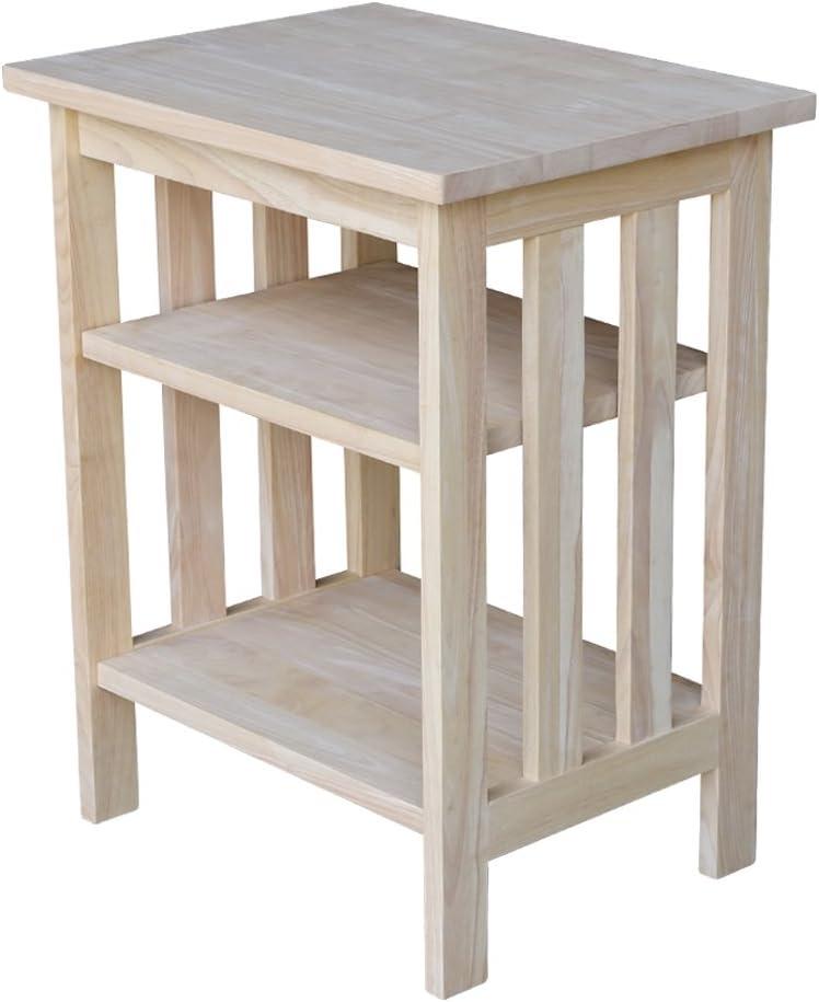 International Concepts Mission Printer Stand, Unfinished: Furniture & Decor