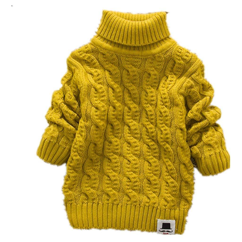 LYLIFE 5-9 Years Kids Turtleneck Sweater Boys Girls Knit Sweater Christmas