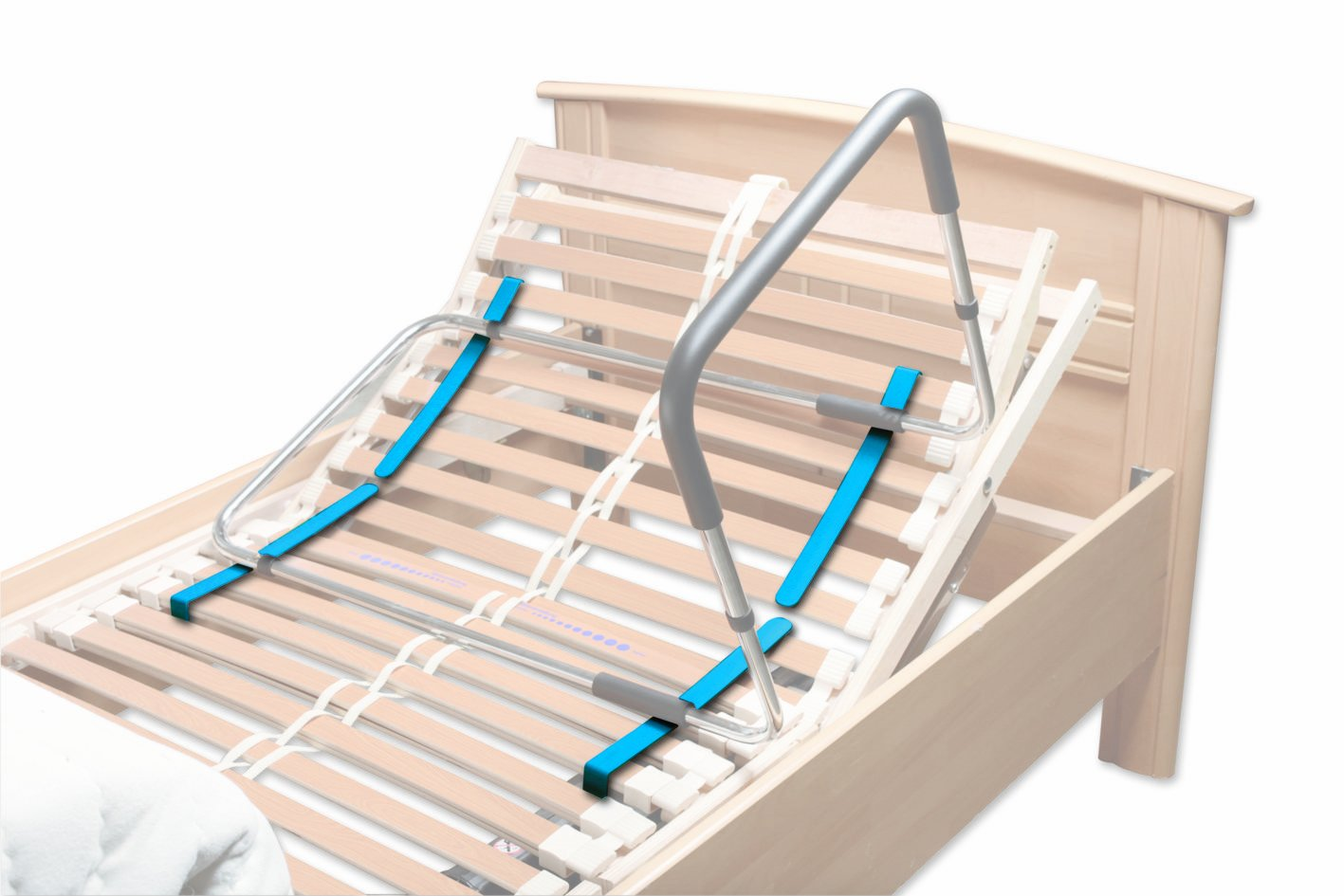 Aufstehhilfe und Bettgriff höhenverstellbar, Ideal für Rahmenbetten ...