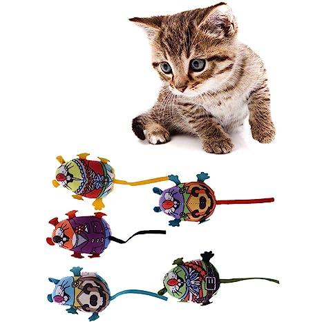 EcLife Juguete para Mascotas, Gato, Gato, Gatito, Juguete de Pluma, ratón