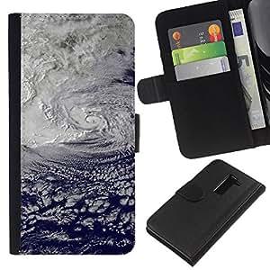 Ihec-Tech / Flip PU Cuero Cover Case para LG G2 D800 D802 D802TA D803 VS980 LS980 - Nature Beautiful Forrest Green 185