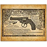 Smith & Wesson - Superior Automatic Revolvers - 11x14 Unframed Art Print - Great Gift for Gun Owners