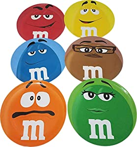 M&M'S Melamine Dinner Plates Set. Character's Big Face. 9.75