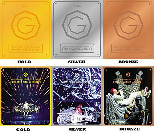 G-DRAGON BIGBANG - 2013 World Tour Live [ONE OF A KIND in SEOUL] GOLD ver. CD + Photo Booklet + Standing Paper + Extra Gift Photocards Set