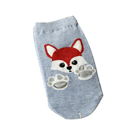Lessonmart Kawaii Short Socks Fashion Animal Zoo Cotton Socks Women Cute Lady Girls Low Cut Ankle
