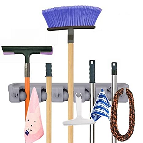 imixlot fregona y escoba pared, soporte de jardín de herramientas Herramientas Estantería Storage &