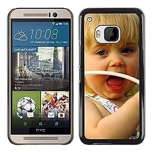 Paccase / SLIM PC / Aliminium Casa Carcasa Funda Case Cover - Cute girl Smiling - HTC One M9