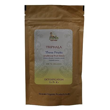 Triphala Ecológica en polvo, Amlaki, Haritaki, Bibhitaki, Certificado ecológico por LACON GmbH