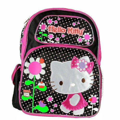 Hello Kitty Flowers Black/Pink Backpack 17