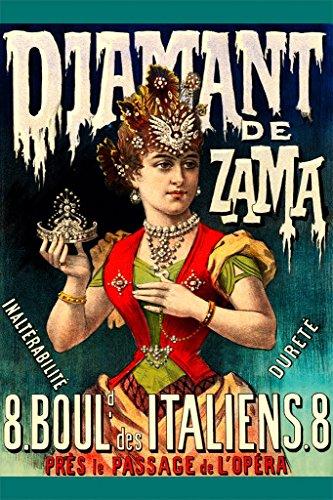 ArtParisienne Diamant De Zama 8 Boulevard Des Italiens by Imprimerie Camis Wall Decal, 48'' H x 32'' W by ArtParisienne