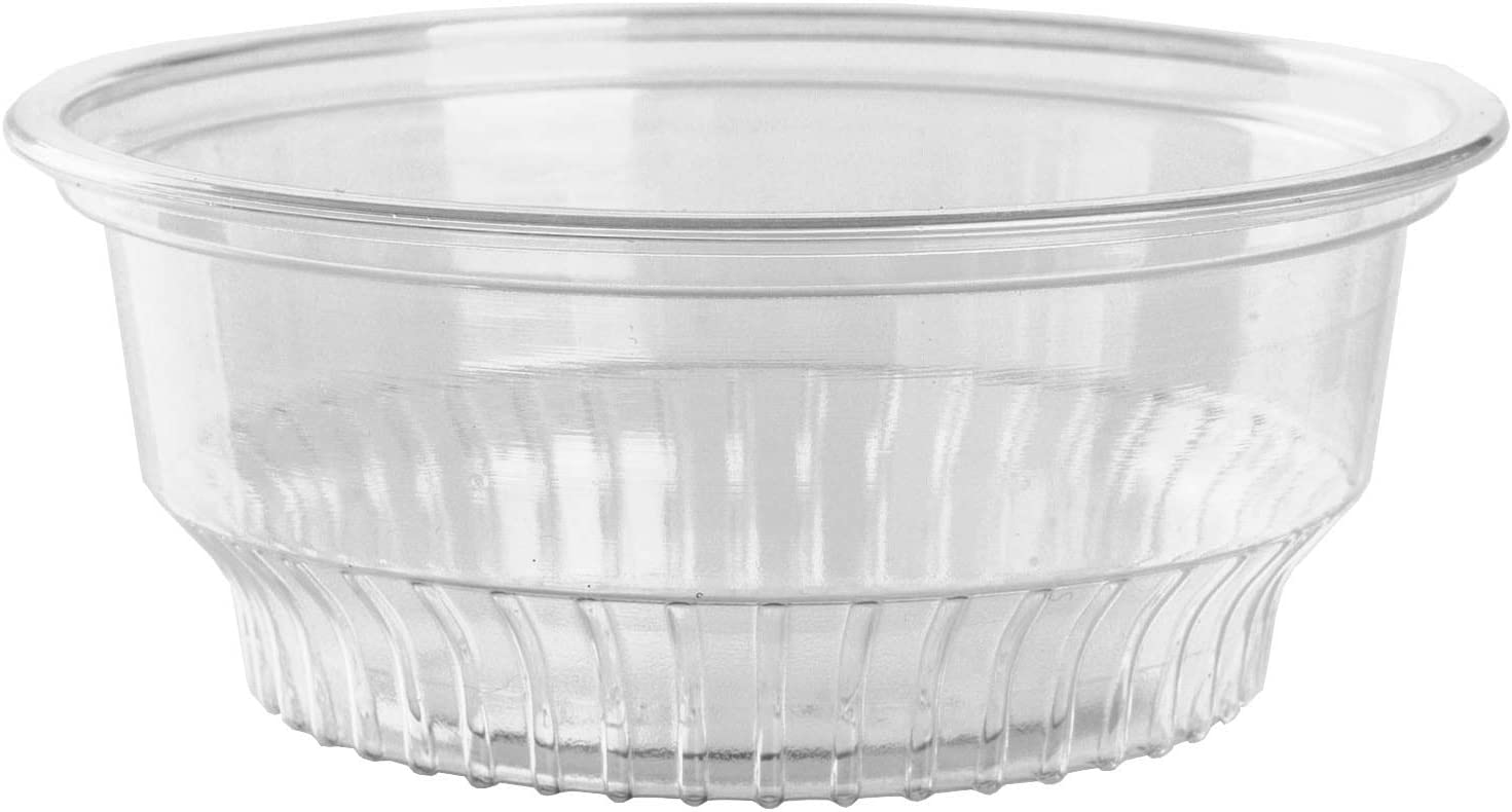 GOLDEN APPLE, 5 oz Clear Plastic Cups for Ice Cream, Snack Bowl no lids (50 Count)
