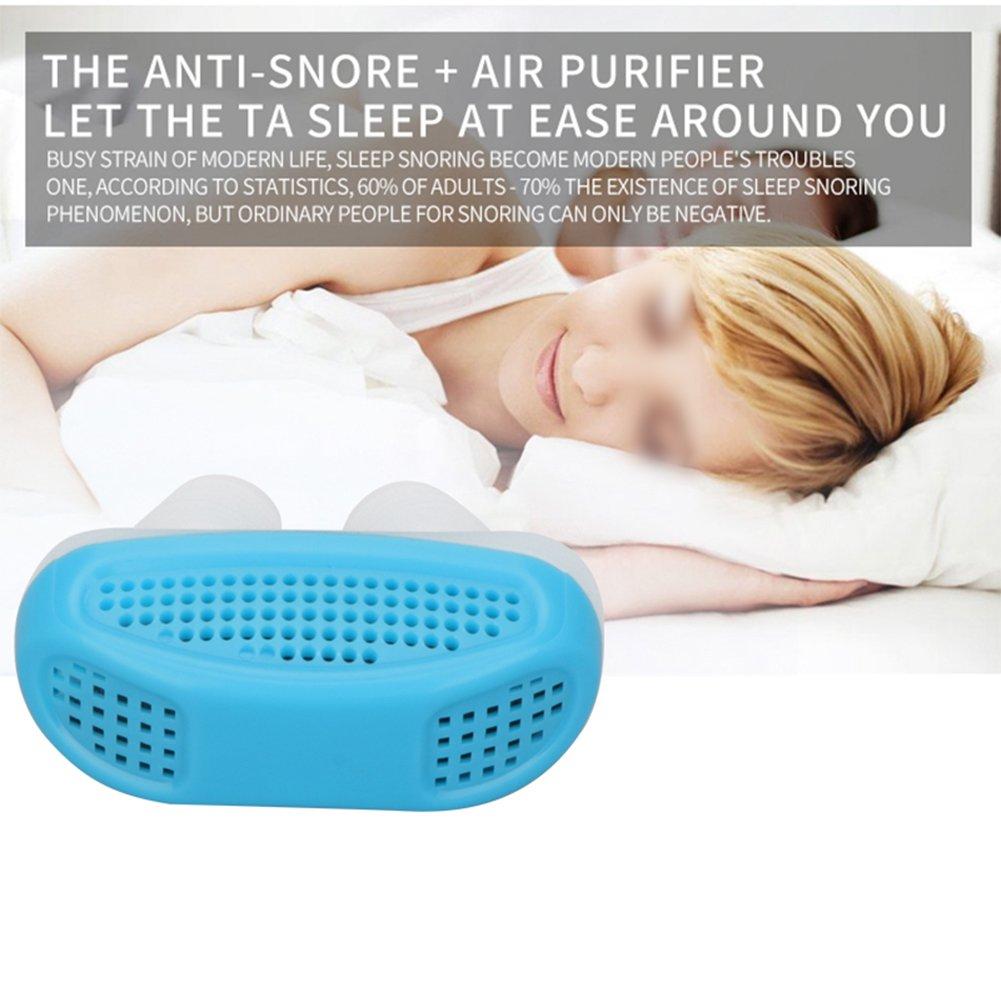 TOOGOO Aparato respiratorio para detener ronquido de nariz y el ronquido aliviar los ronquidos Ayuda para dormir de guardia Mini dispositivo para roncar ...