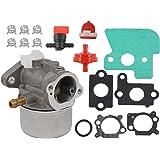 Carburetor & Primer Bulb & Fuel Filter & Shut-off Valve Clamp Kit For Briggs & Stratton 790120 694202 693909 692648 499617 Engine Motor John Deere JS45 Push Mower JS63C 6.5 HP Quantum Intek Engine