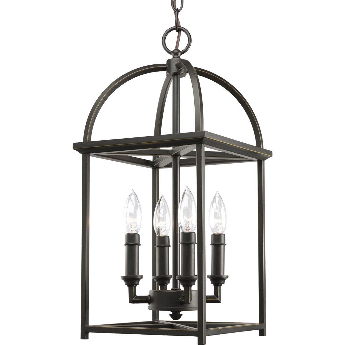 Progress Lighting P3884-20 Foyer Lantern 13-3/8-Inch Width x 20-3/8-Inch Height Antique Bronze
