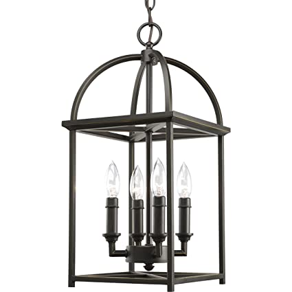 Progress lighting p3884 20 4 light piedmont foyer lantern antique bronze