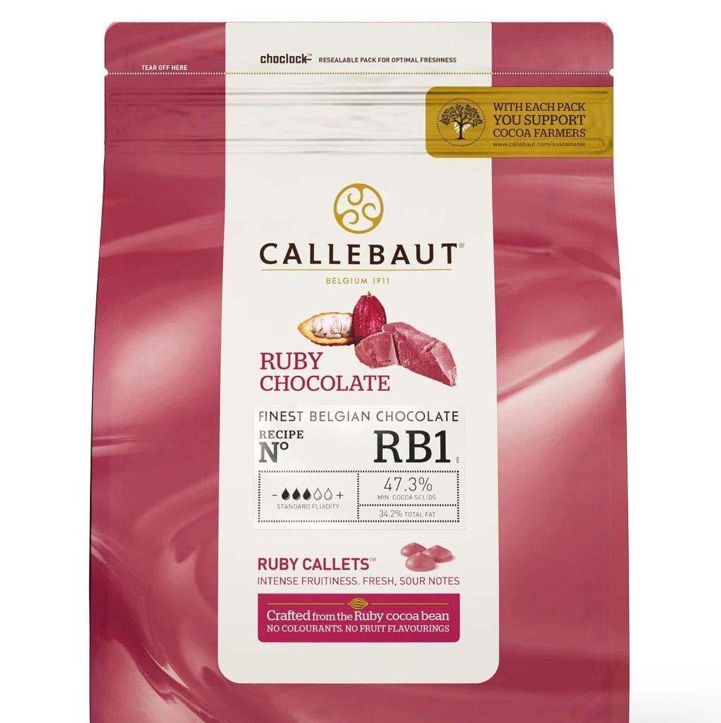 Callebaut Ruby Chocolate Chocolate, callets 1 kg, lanzando Chok olade, chips: Amazon.es: Hogar
