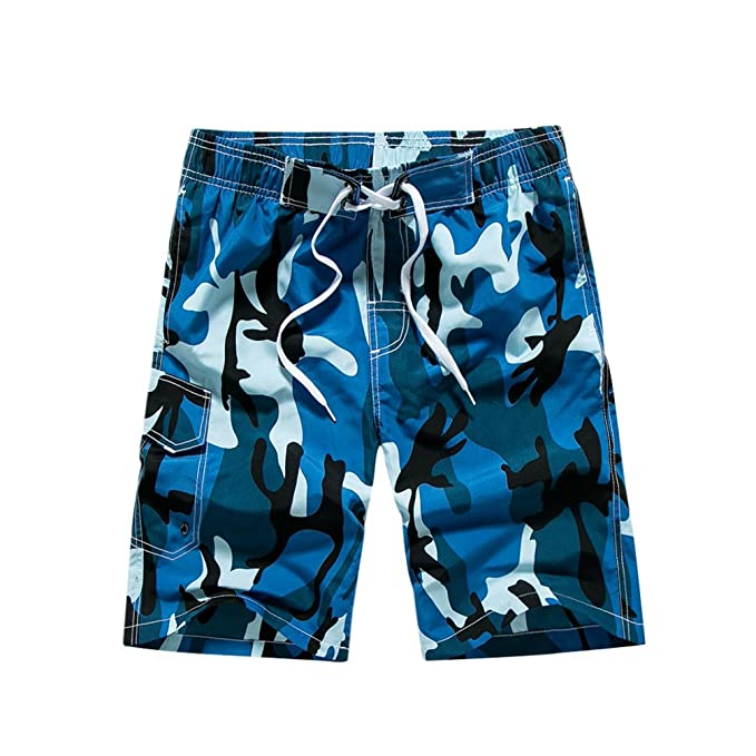 CHIYEEE Swim Trunks Beach Surf Shorts Bañador para Hombre
