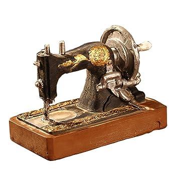 Seawang - Adorno de máquinas de coser antiguas para decoración de habitaciones de estudio y ventanas: Amazon.es: Hogar