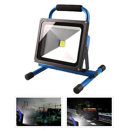 MCTECH 50W Foco Proyector LED portátiles recargables mano lámpara ...