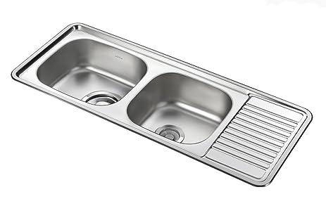 bekjo id1100 43 inch overmount double bowl 23 gauge stainless steel kitchen sink bekjo id1100 43 inch overmount double bowl 23 gauge stainless      rh   amazon com