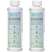 Essential Values Ice Machine Cleaner 16 fl oz - Nickel Safe Descaler | Ice Maker Cleaner, Universal Application for Affresh/Whirlpool 4396808, Manitowac, Ice-O-Matic, Scotsman, Follett Ice Makers