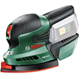 Bosch Cordless Multi Sander PSM 18 LI (Without Battery, 18 Volt System, 3 x Sanding Sheets Included, in Box)