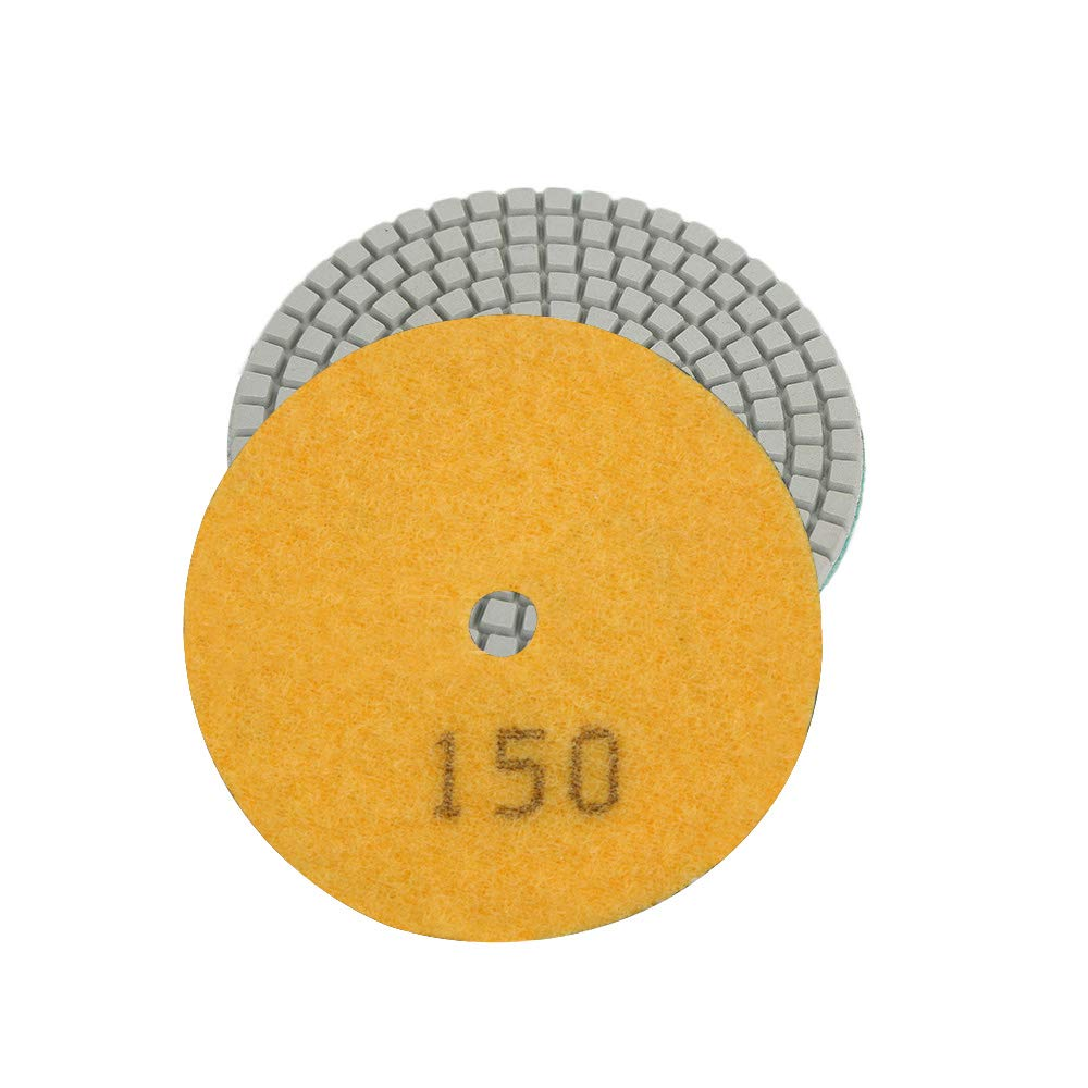 Godagoda 1Pcs 4'' 50-3000 Grit Wet/Dry Polishing Pads Grinding Discs Round Shape for Granite Stone Concrete Marble Polish