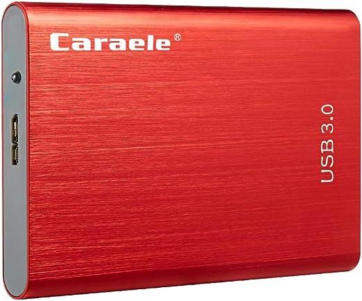 gazechimp 外付け ハードディスクドライブ 2.5インチ USB 3.0 SATA HDD 合金 ポータブル カバー付き - 500GB
