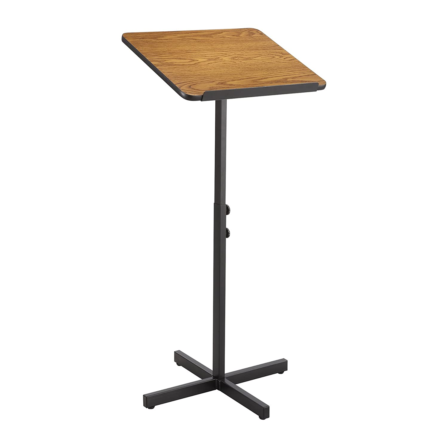 Safco Adjustable Speaker Stand - Medium Oak 8921MO