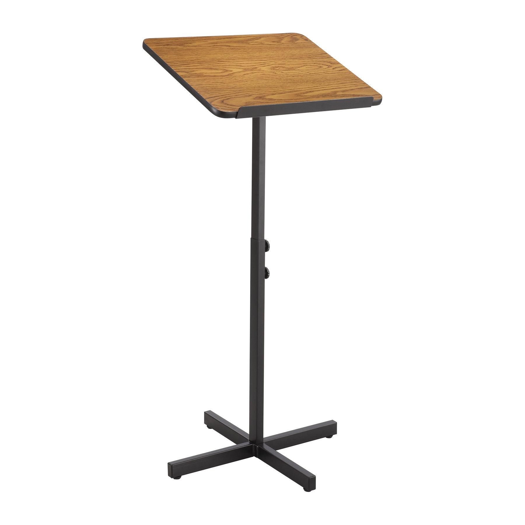 Safco Products 8921MO Adjustable Speaker Lectern Stand, Medium Oak