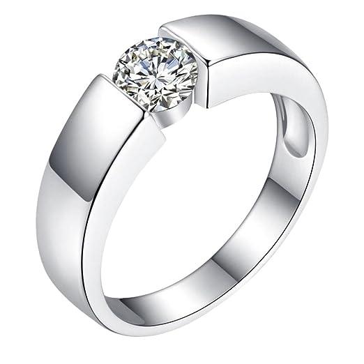Amazon Com Pocciol Diamond Rings Luxury Fashion Men Women Diamond