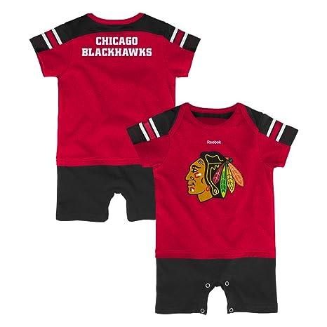 NFL Chicago Blackhawks Hockey ventilador Jersey bebé Pelele - negro -