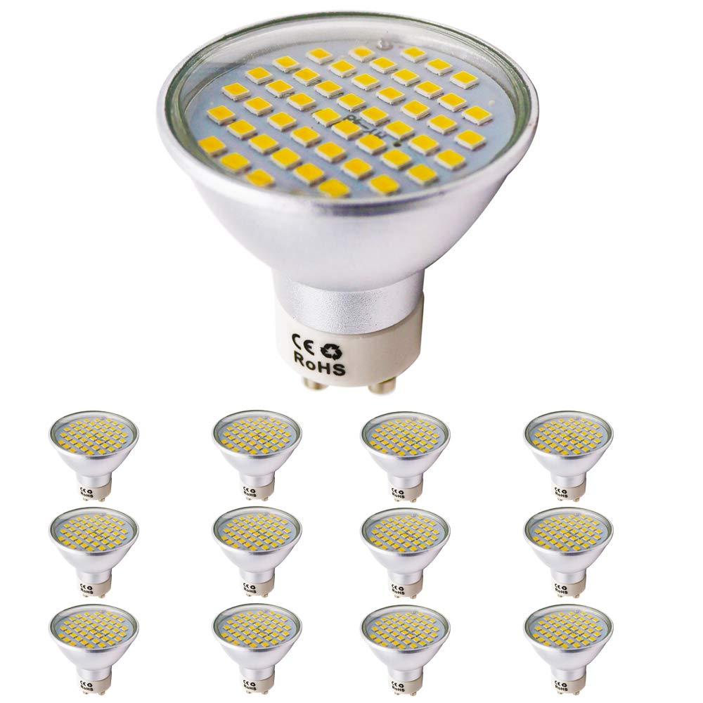 4.5Watt GU10LED Light Bulb Equivalent to 40W Halogen Spotlight AC 220V 420lm, Warm White, Pack of 12)
