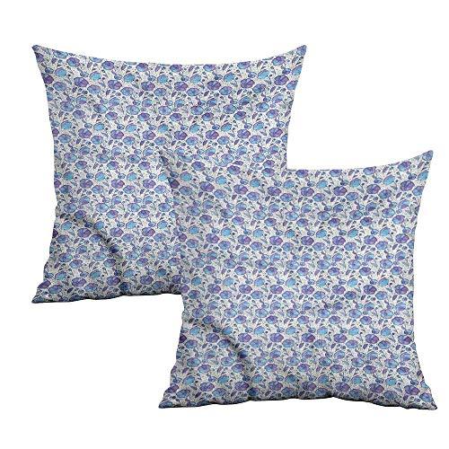 Khaki home Garden Art Square Standard Pillowcase Abstract Leaves Square Body Pillowcase Cushion Cases Pillowcases for Sofa Bedroom Car W 18