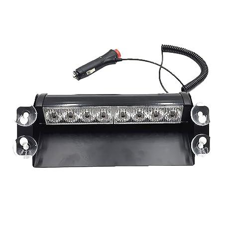 Amber 8 LEDs Vehicle Car Dash Strobe Light Flash Emergency Warning Safety Lamp
