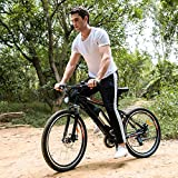 Speedrid Electric Mountain Bicycle Sport Bike 250W 36V 8Ah Battery Electric Bike With Full Suspension 2018 EBikes For Men (Black)