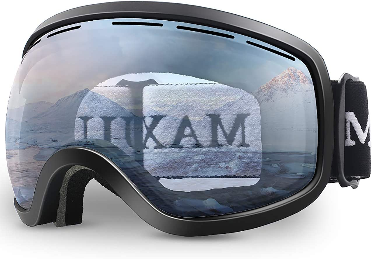 Ski Goggles,OTG Anti-Fog Snowboard Skate Snowmoblie Interchangeable Double Layer Spherical Lens Frameless Snow Goggles Men Women Juli M3
