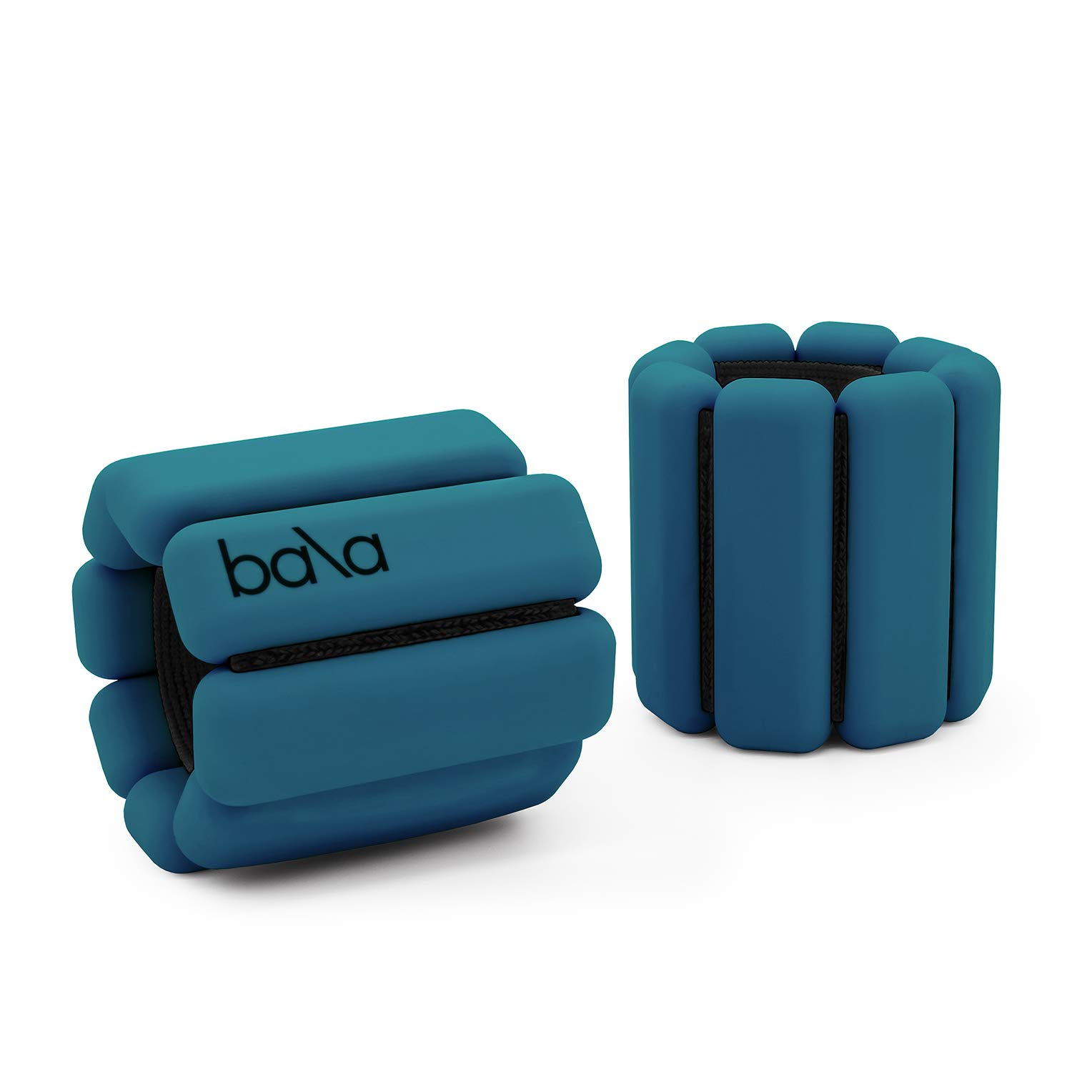 Bala Bangles | Fully Adjustable Wearable Wrist & Ankle Weights | Yoga, Dance, Running, Barre, Pilates, Cardio, Aerobics, Walking | 1 Pound Each, 2 Per Set (Deep Blue) by Bala Bangles